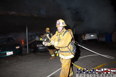 120102 LAFD Arson Magnolia Blvd  & Cedros Ave  -104