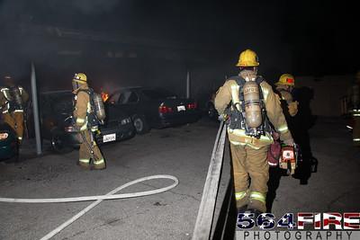 120102 LAFD Arson Magnolia Blvd  & Cedros Ave  -120
