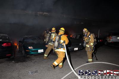120102 LAFD Arson Magnolia Blvd  & Cedros Ave  -121