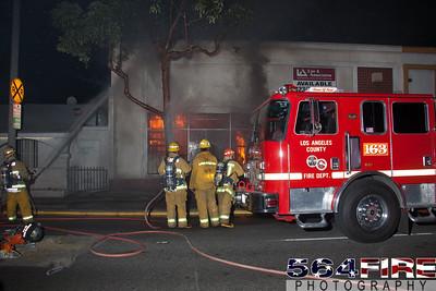 120218 LACoFD Structure Alantic Ave & Firestone Blvd-120