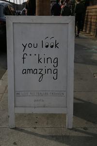 Storefront signage in LA