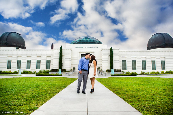 Griffith Park Observatory Loss Angeles Engagement Session