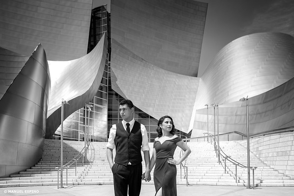 Disney Concert Hall Los Angeles Engagement Session Photography
