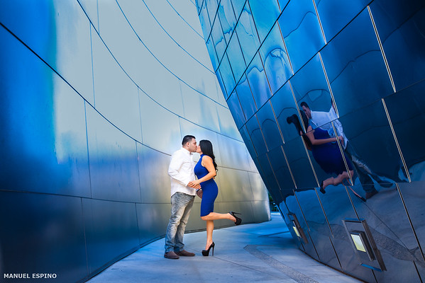 Disney Concert Hall Los Angeles Engagement Wedding Photography