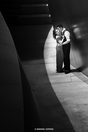 Disney Concert Hall Los Angeles Romantic Engagement Session Photography