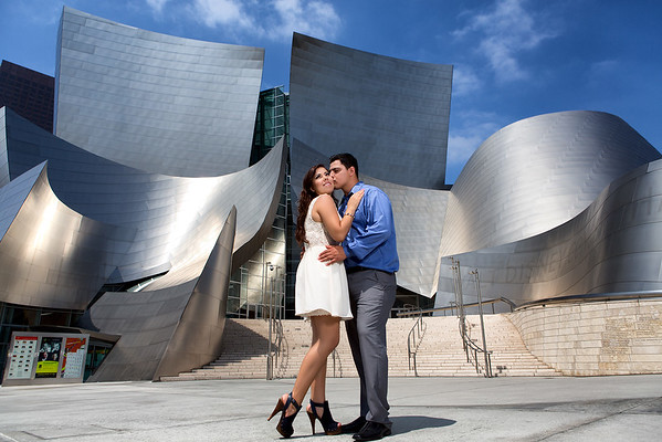 Disney Concert Hall Los Angeles Engagement Session (2)