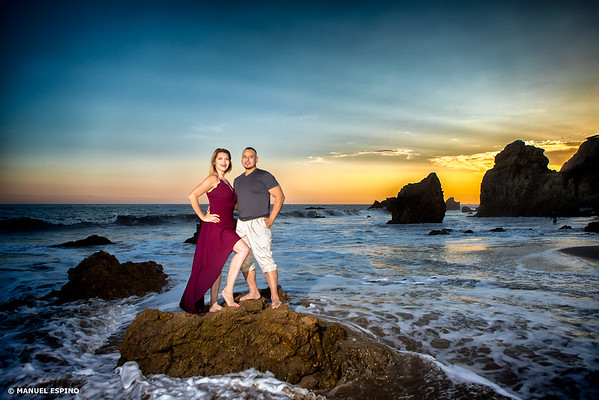 El Mataor Beach Los Angeles Engagement Session Photographer