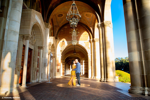 UCLA Royce Hall Los Angeles Engagement Session Photographer