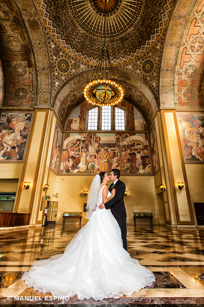 Los Angeles Library Wedding Photography