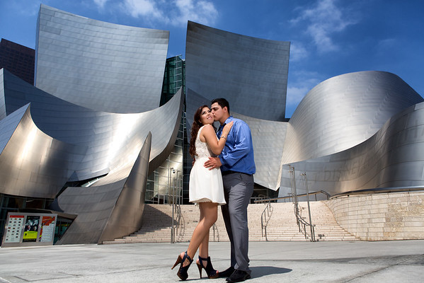 Los Angeles Downtown Engagement Session Photo