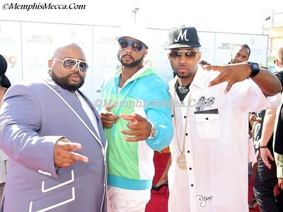 Jazze Pha (L) & Drama Boy (R) represent at the BET awards