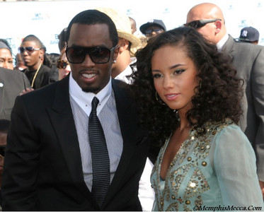 P. Diddy(L) & Alicia Keys (R)