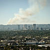 Century City Skyline. There was a fire that broke out by the hills opposite Getty Center (hence the smoke on the background)