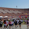 Entering the Los Angeles Coliseum for the finish line.
