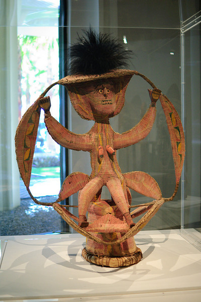 This was in the Art of the Pacific collection. It's a rather large dance headdress from Papua New Guinea.