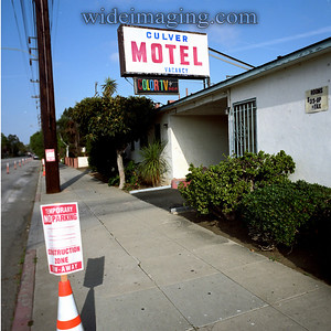 In the last year of analog TV broadcasts here is one of two Culver City Motels still advertising RCA color TV as a feature.