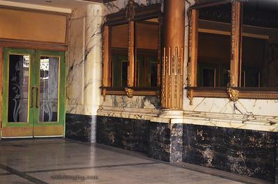Los Angeles Theatre detail. Broadway, Los Angeles November 30, 2013.