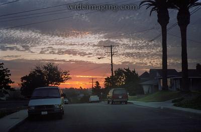 El Segundo June 1995, dawn on Maple Street.