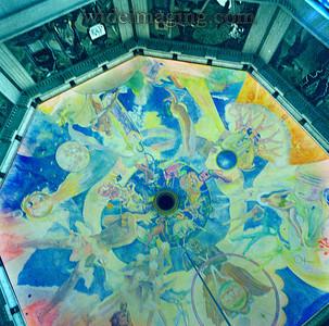 Griffith Observatory pendulum ceiling frescos, November 5, 2006.