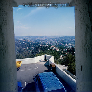 This telescope featured in the Rebel Without a Cause switch blade fight scene is gone with the 2006 Griffith Observatory renovation. Photo from October 3, 1987.