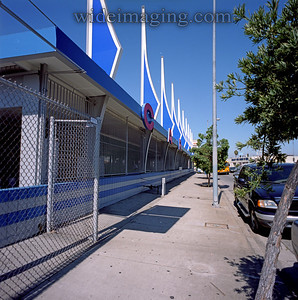 Mid sixties architecture:  Car Wash on La Cienega and Sawyer Street. October 3, 2007.