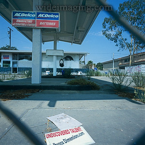 Culver City abandonded gas station and undiscovered talent, 4436 Sepulveda Blvd. July 17, 2008.