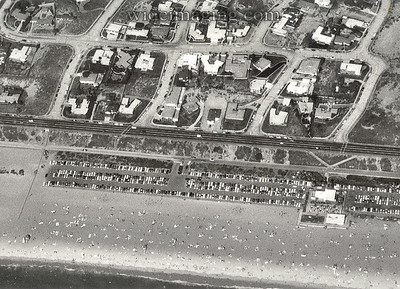 Playa Del Rey, Labor Day 1967. By 1971 These homes and over 800 others were leveled by eminent domain for the expansion of Los Angeles International Airport's flight path. The area is now off limits and fenced in like a modern day ghost town, with streets, sidewalks and many traces of it's past still there. They form the basis for the following photos taken in October 2000.