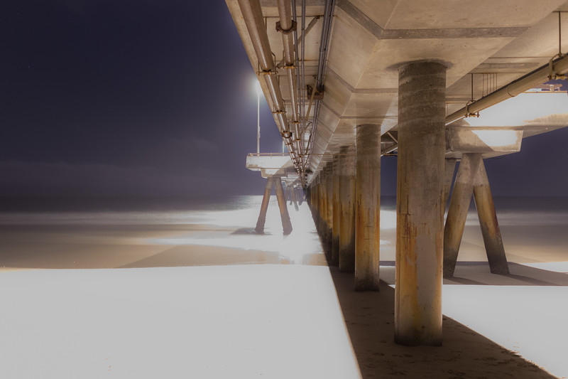 Venice Pier at night