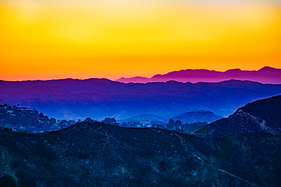 Burned Mountains at Sunset