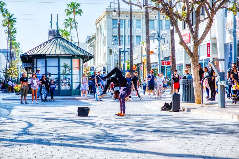 Santa Monica - Street Performance