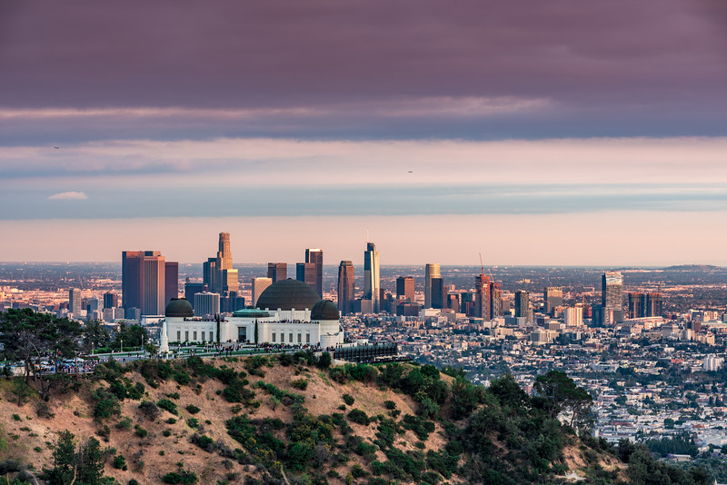 Griffith Observatory and Downtown LA