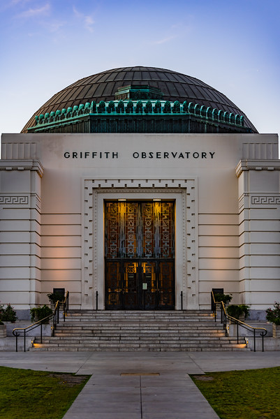 Griffith Observatory's entrance