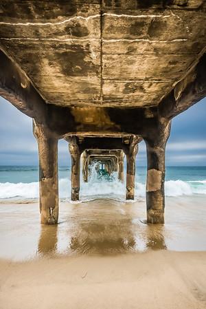 Under Manhattan Beach Pier