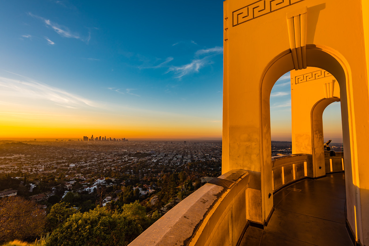 Sunrise at Griffith Observatory