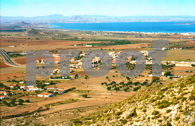 Las Baracas, Los Belones and Los Nietos viewed from Lionhead Mountain, May 1991