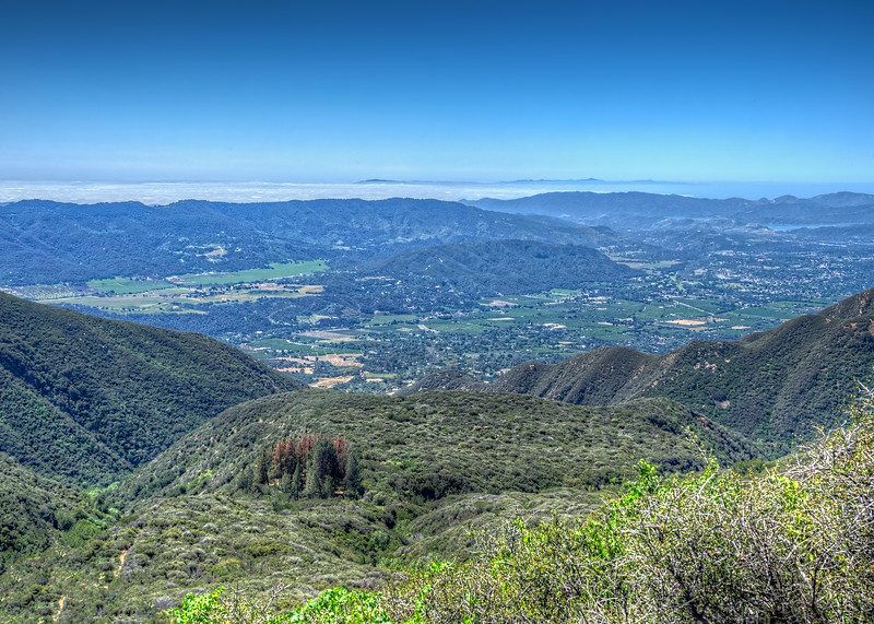 The Pines camp and Ojai from the Horn Canyon trail, March 28, 2015
