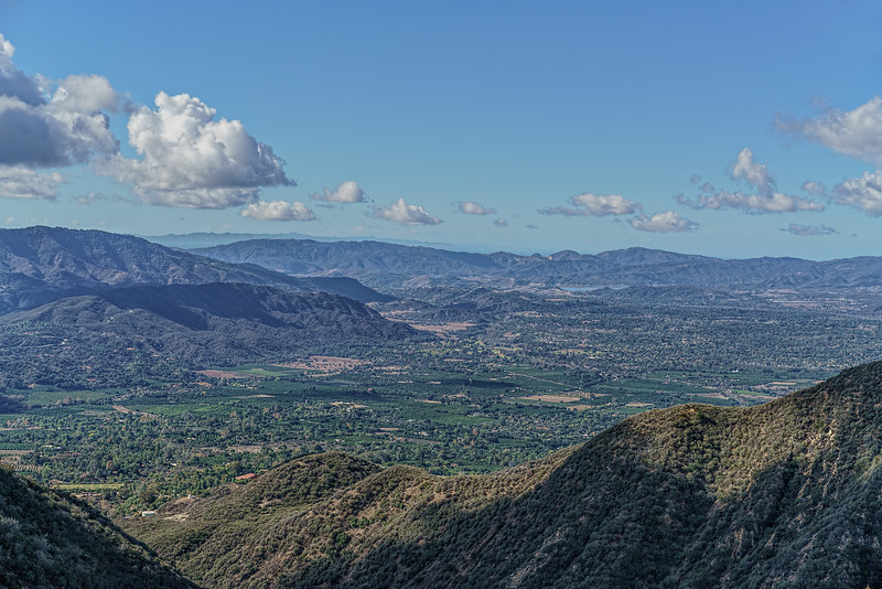 The Ojai Valley and Lake Casitas from the Horn Canyon trail, November 9, 2015.