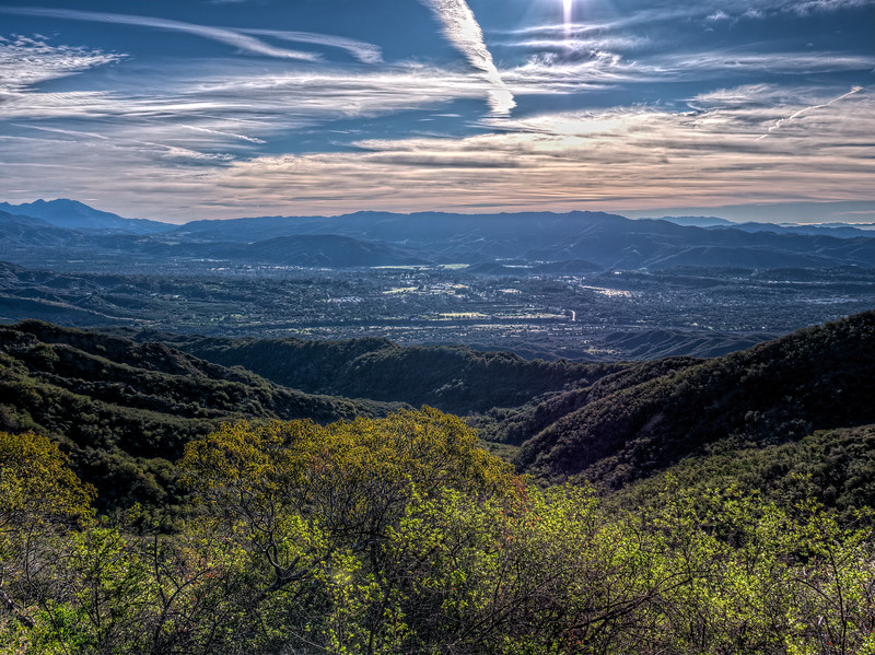 Sunrise, Ventura River Preserve and Ojai Valley, January 19, 2015.