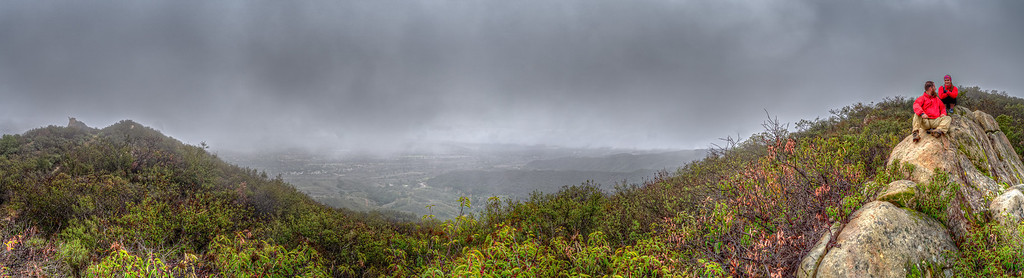 Kennedy Ridge panorama in the fog, December 16, 2012.
