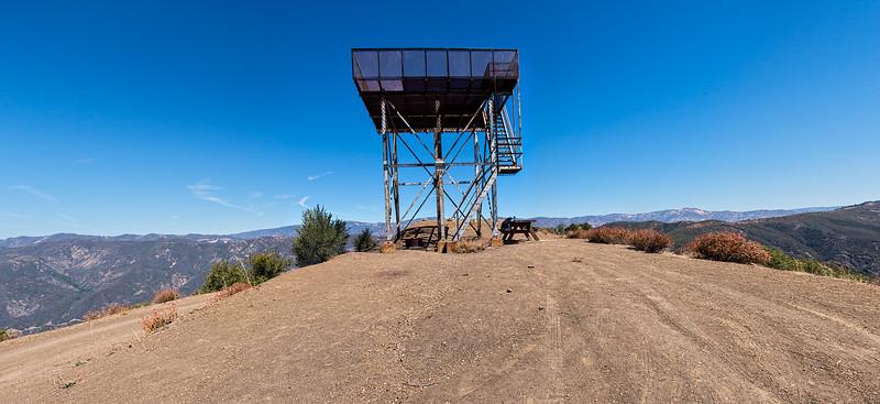 Nordhoff Peak lookout panorama, August 13, 2014