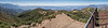 Ojai Valley panorama from the Nordhoff Peak lookout, August 13, 2014.