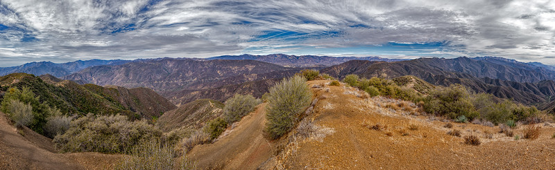 Panorama from Nordhoff Peak shot in an arc centered on the north, February 4, 2014.