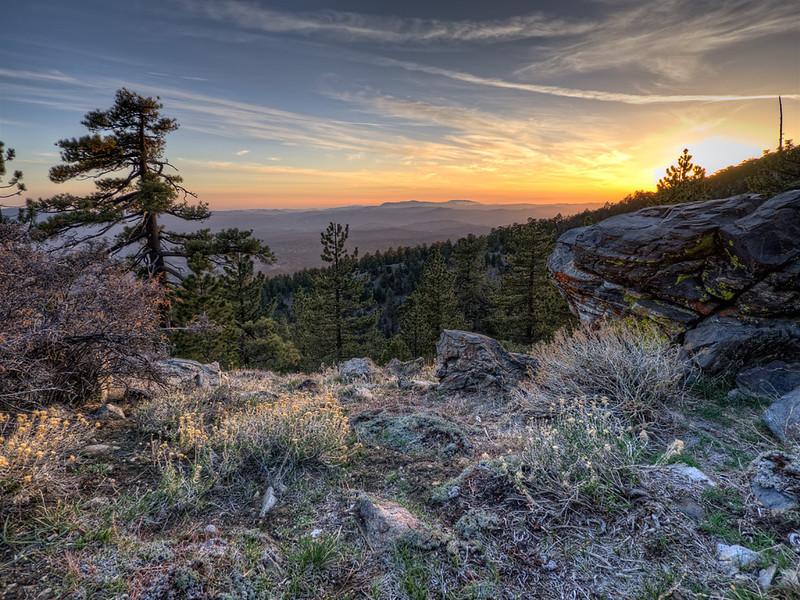 Sunset, Chumash WIlderness, Sheep Camp, April 28, 2012