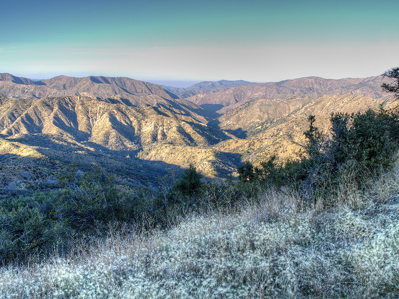 Santa Barbara Canyon from the top of Heartbreak Hill. November 15, 2011.