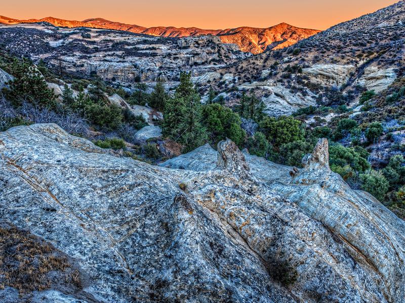 Morning in the Sierra Madre Mountains near Salisbury Potrero, November 2, 2013.