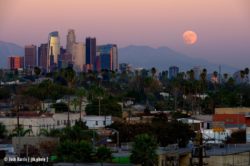 Super Moon, Downtown Los Angeles, November 2016.