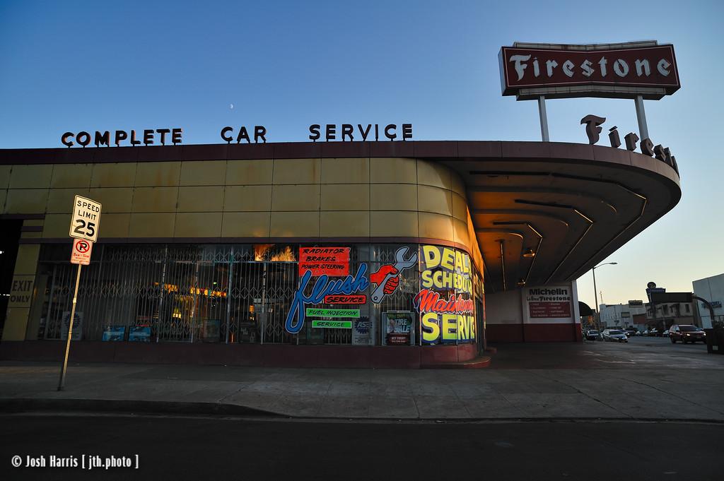 La Brea Avenue at 8th Street, Los Angeles, September 2009.