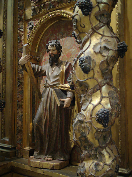 Los Angeles Cathedral; detail from 17th century Spanish Baroque retablo
