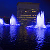 Los Angeles Department of Water and Power fountains (viewing north)