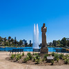 Echo Park: Nuestra Reina de Los Angeles, aka Our Lady of the Lake Welcomes Visitors, having been restored to her original 1930s location